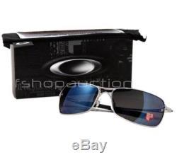 Oakley OO 4044-08 POLARIZED CROSSHAIR 2.0 Lead Ice Iridium Mens Sunglasses RARE