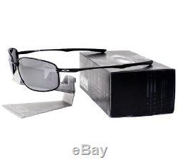 Oakley OO 4074-04 POLARIZED TAPER Polished Black Iridium Mens Wire Sunglasses
