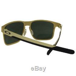 Oakley OO 4123-08 Holbrook Metal Satin Gold with Dark Grey Lens Mens Sunglasses