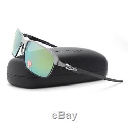 Oakley OO 6018-04 POLARIZED TINFOL CARBON Lead Matte Blk Emerald Mens Sunglasses