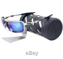 6a7612b02f Oakley Oo 6020-04 Polarized Badman Plasma Sapphire Iridium Mens Metal  Sunglasses