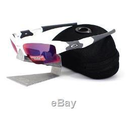Oakley OO 9009-07 FLAK JACKET XLJ Polished White Prizm Road Mens Sunglasses Rare
