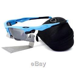 Oakley OO 9097-04 FAST JACKET Sky Blue Black Iridium Clear Set Mens Sunglasses