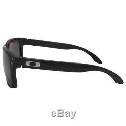 Oakley OO 9102-01 HOLBROOK Matte Black Frame Warm Grey Lens Mens Sunglasses