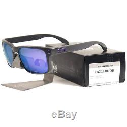 Oakley OO 9102-76 TOXIC BLAST HOLBROOK Dark Grey Violet Iridium Mens Sunglasses