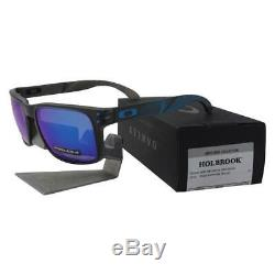 Oakley OO 9102-F2 Holbrook Aero Grid Matte Grey Prizm Sapphire Mens Sunglasses