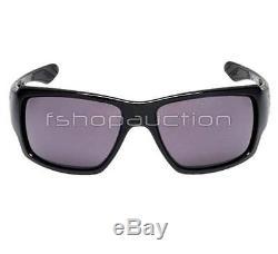 Oakley OO 9173-01 BIG TACO Polished Black Warm Grey Mens Sunglasses Gift in Box