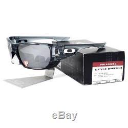Oakley OO 9194-06 POLARIZED STYLE SWITCH Crystal Black Chrome Mens Sunglasses