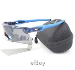 Oakley OO 9208-06 POLARIZED RADAR EV Path Navy Frame Grey Lens Mens Sunglasses