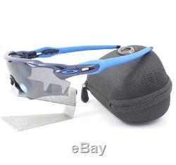 Oakley OO 9208-06 POLARIZED RADAR EV Path Navy Grey Mens Sunglasses