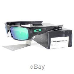 Oakley OO 9239-02 CRANKSHAFT Black Ink Frame Jade Iridium Mens Sports Sunglasses