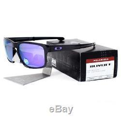 Oakley OO 9246-07 POLARIZED SLIVER F Foldable Matte Black Violet Mens Sunglasses
