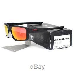 Oakley OO 9247-11 CHAINLINK Matte Black Ruby Iridium Mens Sports Sunglasses