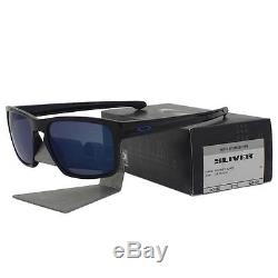 Oakley OO 9262-28 SLIVER Moto GP Polished Black Ice Iridium Mens Sunglasses New