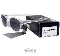Oakley OO 9265-04 LATCH Matte Clear Frame Black Iridium Lens Mens Sunglasses