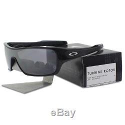Oakley OO 9307-02 TURBINE ROTOR Black Silver Ghost Text Iridium Mens Sunglasses