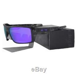 Oakley OO 9380-0466 DOUBLE EDGE Matte Black Camo Violet Iridium Mens Sunglasses