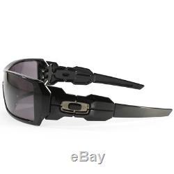 Oakley Oil Rig OO9081 03-460 Polished Black/Warm Grey Men's Sport Sunglasses
