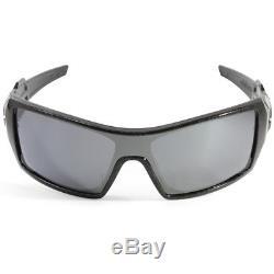 Oakley Oil Rig OO9081 24-058 Black Ghost Text/Black Iridium Men's Sunglasses