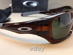 Oakley Pit Bull Brown Dark Grey 100% Authentic Guaranteed Mens Sunglasses