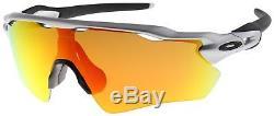 Oakley Radar EV Path Sunglasses OO9208-02 Silver with Fire Iridium Lens BNIB