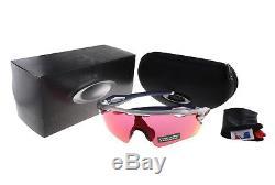 Oakley Radar EV Path Sunglasses OO9208-40 Silver / Red Sox Prizm Field Lens