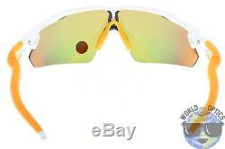Oakley Radar EV Pitch Sunglasses OO9211-08 White with Fire Iridium Polarized Lens