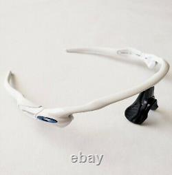 Oakley Radar EV Polished White Blue Icons Frame Only Authentic Path Pitch