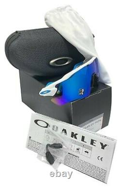 Oakley Radar Ev Path sunglasses Polished white frame Prizm Sapphire Lens OO9208