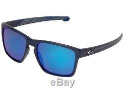 Oakley Silver XL Aero Flight OO9341-22 Sunglasses Navy Prizm Sapphire Lens 9341