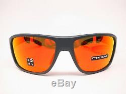 Oakley Split Shot OO9416-0864 Matte Heather Grey Prizm Ruby Polarized Sunglasses