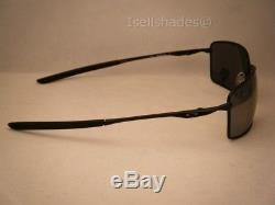 Oakley Square Wire Matte Black w Black Iridium Polar Lens (oo4075-05)