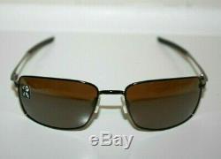 Oakley Square Wire POLARIZED Sunglasses OO4075-06 Tungsten With Tungsten Iridium