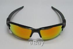 Oakley Sunglasses FLAK 2.0 XL Team Colors OO9188-22 Polished Black/ Fire Iridium