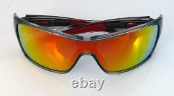 Oakley Sunglasses Turbine Rotor Grey Ink Frame Ruby Iridium Lenses New Low Stock