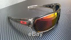 oakley turbine polarized sunglasses- grey ink/ruby iridium
