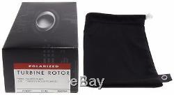 Oakley Turbine Rotor Sunglasses OO9307-06 Black Tungsten Iridium Polarized