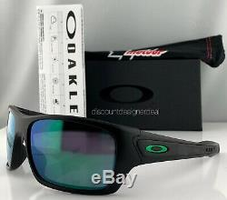 Oakley Turbine Sunglasses OO9263-15 Matte Black Jade Iridium Mirrored Moto GP