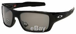 Oakley Turbine Sunglasses OO9263-4163 Polished Black Prizm Black Polarized Lens