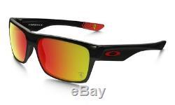 Oakley Two Face Ferrari Sunglasses Polished Black Ruby Iridium OO9189-36