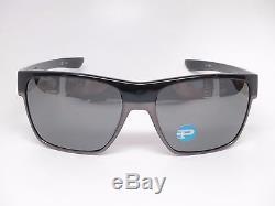 Oakley Two Face XL OO9350-01 Polished Black withBlack Iridium Polarized Sunglasses