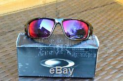 Oakley Valve OO9236-02 Polished Black/Red Iridium Men's Sports Sunglasses