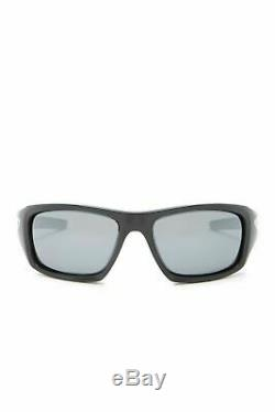 Oakley Valve Sunglasses 12-837 Polished Black Frame Black Iridium Polarized Lens