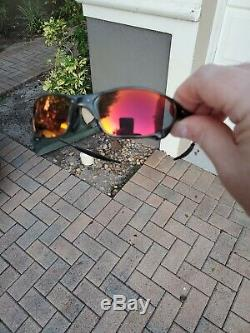Oakley X Metal Juliet Carbon withTorch Irid Polorized & Black Iridium Excell Cond