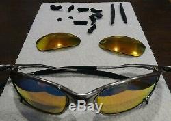 Oakley X Metal Juliet Polished Men's Polarized Sunglasses