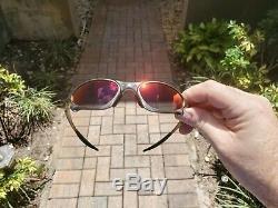Oakley X Metal Penny Titanium with Deep Deep Ruby Lenses & Extra Lenses Excellen