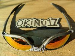 RARE OAKLEY X-METAL PENNY TITANIUM RUBY IRIDIUM XM SERIAL # USA PRE-OWNED X-MEN