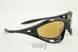 READ Oakley RACING JACKET Polished Black/Bronze Sunglasses VINTAGE